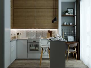 """Квартира в ЖК """"Ландыши"""": Кухни в . Автор – Yurov Interiors,"""