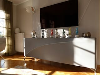 Eine hochwertig möblierte Wohnung bekennt Farbe:   von R A U M A N S I C H T E N : Einrichtungsberatung