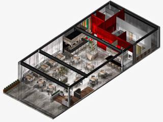 Restoran oleh MoisesMedinaDesign, Modern