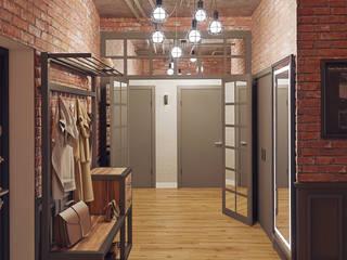 Квартира В ЖК «Лайнер», 171 кв.м.: Коридор и прихожая в . Автор – Loft&Home