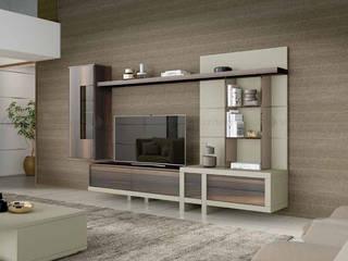 Decordesign Interiores Living roomShelves Wood effect