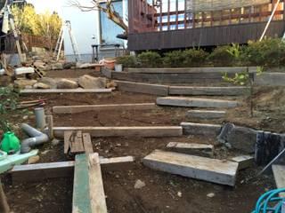 石積み施工前: 庭や煌久が手掛けたです。,