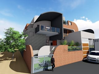 Curve House - Residence for Mr.Rohith @ Hassan Modern houses by One Brick At A Time Modern