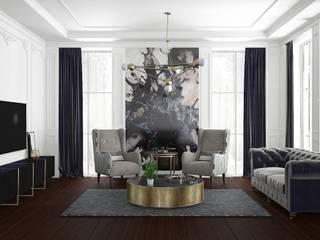 Mekan tasarım Klasik Oturma Odası FA - Fehmi Akpınar İç Mimarlık Klasik