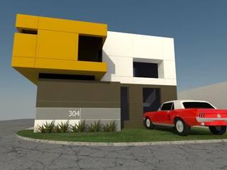 fachada principal: Casas de estilo  por CONSTRUCCIONES DEL NOROESTE CURESKA S. DE RL. DE CV.