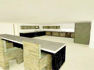 interior casa : Casas campestres de estilo  por OBS DISEÑO & CONSTRUCCION.