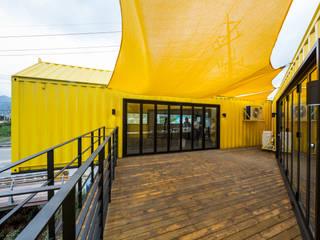 Phòng khách theo 큐브디자인 건축사사무소, Hiện đại