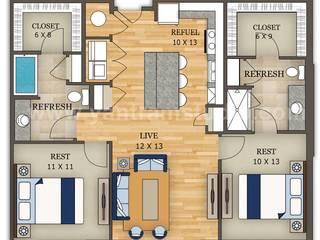 2D Section Home Plan Design by Yantram Architectural Modeling Firm, Washington - USA Yantram Architectural Design Studio