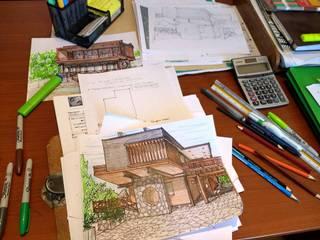 โดย eco cero - Arquitectura sustentable en Talca ชนบทฝรั่ง