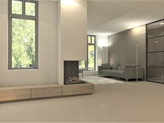 Studio DEEVIS Modern living room Wood