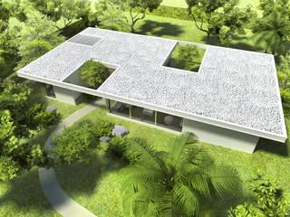 Diseño de Casa en Managua, Nicaragua: Casas de estilo  por SMF Arquitectos  /  Juan Martín Flores, Enrique Speroni, Gabriel Martinez