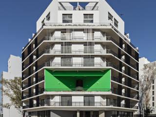 Proyecto de Viviendas para la Villa Olímpica por SMF Arquitectos: Casas multifamiliares de estilo  por SMF Arquitectos  /  Juan Martín Flores, Enrique Speroni, Gabriel Martinez