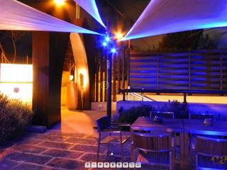 Exklusive Beleuchtung für ein Disco Club Restaurant in Mallorca Ausgefallene Bars & Clubs von Moreno Licht mit Effekt - Lichtplaner Ausgefallen