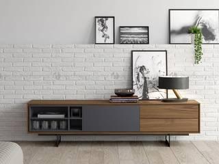 Decordesign Interiores SalasMuebles de televisión y dispositivos electrónicos Gris