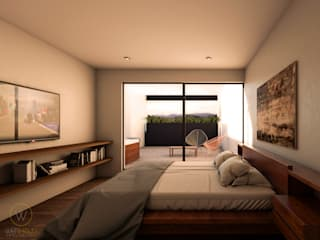 Minimalist bedroom by WERHAUS ARQUITECTOS Minimalist