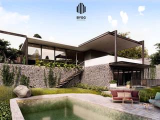 Fachada Sur: Casas de estilo  por Corporativo Empresarial BYGG S.A. de C.V.