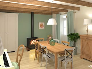 MJ Intérieurs Country style dining room