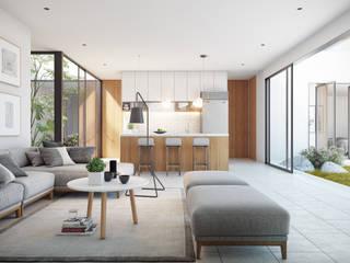 DELTA Built-in kitchens Wood Grey
