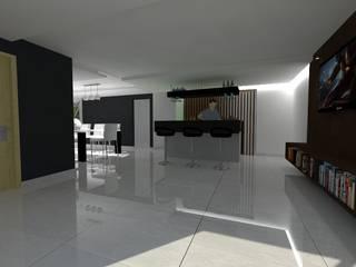 Distribucion de espacios:  de estilo  por CONSTRUCCIONES DEL NOROESTE CURESKA S. DE RL. DE CV.