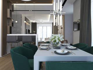 Загородный дом в современном стиле: Гостиная в . Автор – PlatFORM