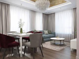 """Квартира 117м2 в ЖК """"KALININA HOUSE"""": Гостиная в . Автор – PlatFORM"""