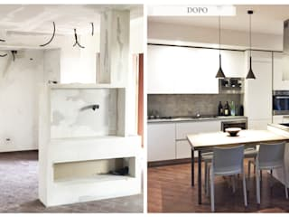Area living di design e funzionale: Cucina attrezzata in stile  di Bfarredamenti