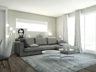 Un appartamento all'insegna del design Soggiorno moderno di Bfarredamenti Moderno