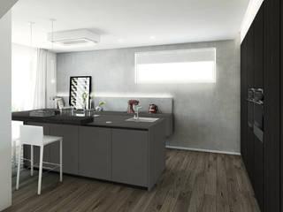 Cucina Hi Tech: Cucina attrezzata in stile  di Bfarredamenti