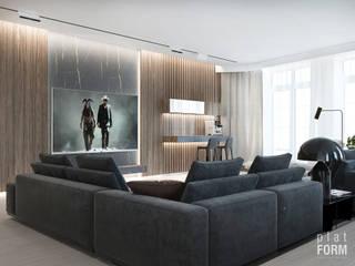 Квартира 280м2 : Гостиная в . Автор – PlatFORM