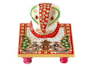 Marble Ganesh With Chowki:   by Grp Marbles