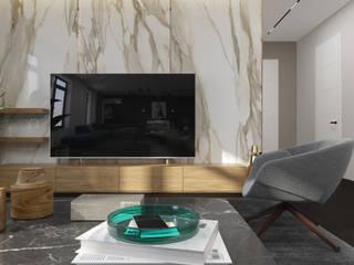 Квартира 130м2: Гостиная в . Автор – PlatFORM