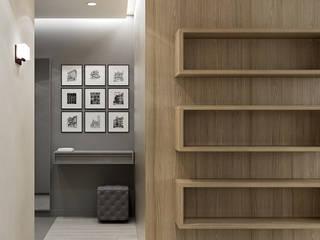 Квартира для молодой семьи в Скандинавском стиле : Коридор и прихожая в . Автор – PlatFORM