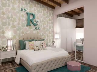 Diseño y decoración de habitación para niña:  de estilo  por Cindy Castañeda