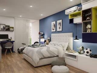 Diseño y decoración de habitación para niño:  de estilo  por Cindy Castañeda