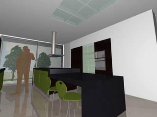 Cozinha com ilha para refeições: Cozinhas  por Santos Delgado Arquitectura & Design