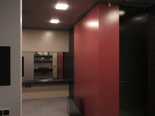 Визуализация жилого помещения в таунхаусе, 2 этаж, в самом центре Москвы: Рабочие кабинеты в . Автор – Антон Булеков