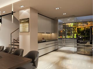 Salas de jantar modernas por Singapore Carpentry Interior Design Pte Ltd Moderno