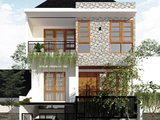 Rumah Krembangan SEKALA Studio Rumah Modern Batu Bata White
