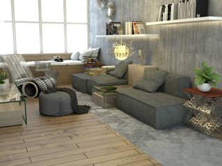 The Art Of Waste:  Living room by POWL Studio