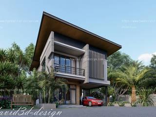 ผลงานออกแบบบ้านพักอาศัย2ชั้น 250 ตร.ม. จ.ภูเก็ต โดย fewdavid3d-design