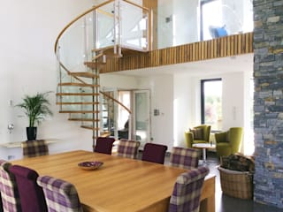 Modern Spiral Staircase Antrim Modern dining room by Complete Stair Systems Ltd Modern
