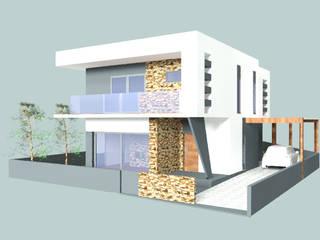 Alçado principal: Moradias  por Arquiteta Márcia Pião