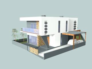 Moradia unifamiliar T3, em Loures: Casas  por Arquiteta Márcia Pião