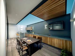 Casa Álvarez: Cocinas equipadas de estilo  por COUTIÑO & PONCE ARQUITECTOS