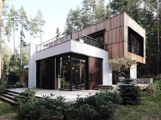 Box house - современный загородный дом: Загородные дома в . Автор – Роман Леонидов - Архитектурное бюро