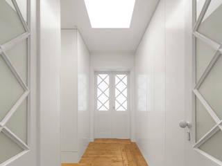 Padimat Design+Technic Pasillos, vestíbulos y escaleras minimalistas Blanco