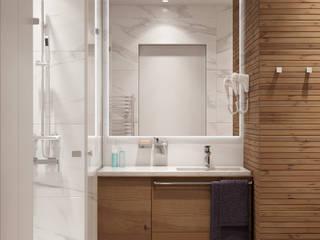 Королёв 47 м2: Ванные комнаты в . Автор – MBM studio