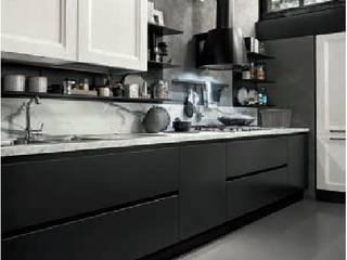 cucina shabby winter balck titanio e bianca: Cucina in stile  di nuovimondi di Flli Unia snc