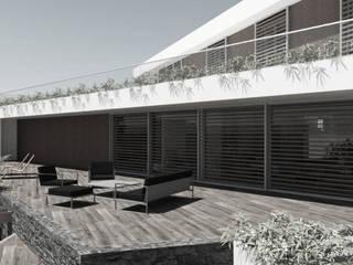 Ville gemelle Case in stile minimalista di Ing. Massimiliano Lusetti Minimalista