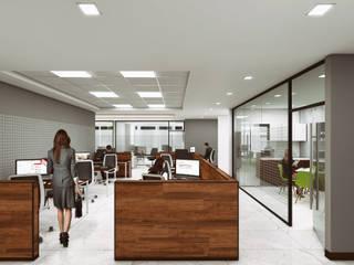 Oficinas corporativas : Estudios y oficinas de estilo  por 2M arquitectos